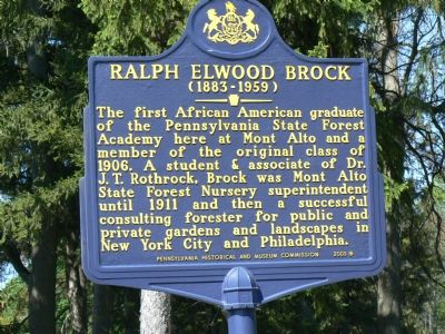Ralph Elwood Brock Marker image. Click for full size.