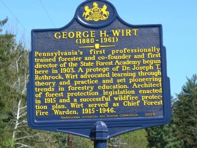George H. Wirt Marker image. Click for full size.