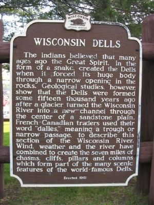 Wisconsin Dells Marker image. Click for full size.