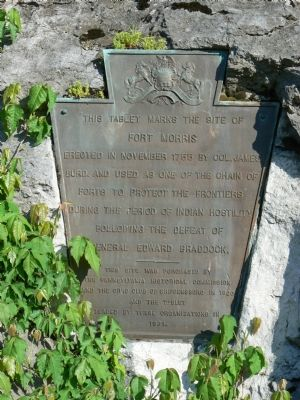 This Tablet Marks the Site of Fort Morris Marker image. Click for full size.