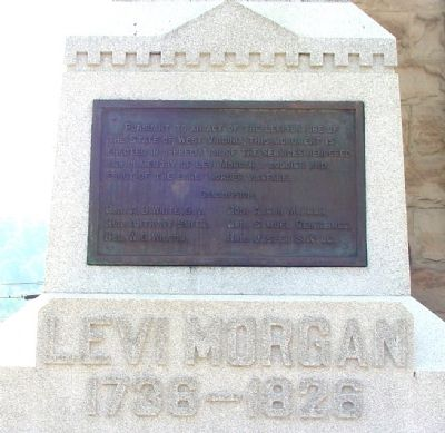 Levi Morgan Monument, Main Face image. Click for full size.