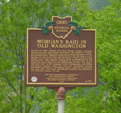 Morgan's Raid on Old Washington Marker image. Click for full size.