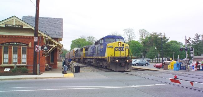 Westbound CSX Freight Passes the Station image. Click for full size.