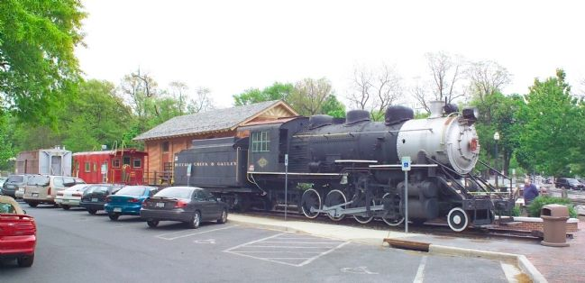Buffalo Creek & Gauley No. 14 On Permanent Display Behind the Freight House Museum image. Click for full size.