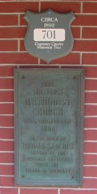 The First Methodist Church Marker image. Click for full size.