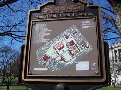Map of current Pennsylvania Capitol Complex image. Click for full size.