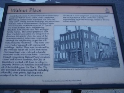 Walnut Place Marker image. Click for full size.
