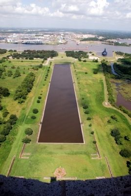 Reflection pond seen from the observation deck image. Click for full size.