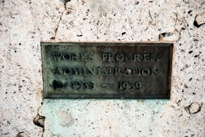 Works Progress Administration Plaque on Monument Steps image. Click for full size.
