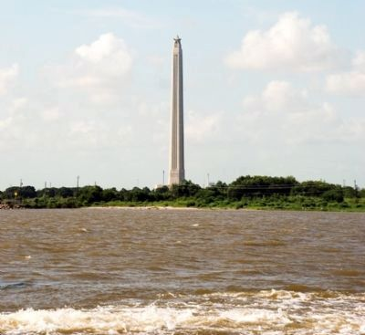 Monument viewed from Lynchburg Ferry. image. Click for full size.