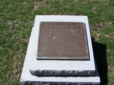 104th Cavalry Marker image. Click for full size.