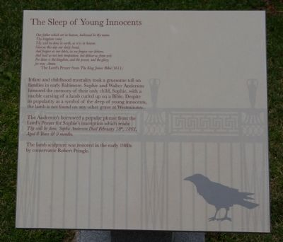 The Sleep of Young Innocents Marker image. Click for full size.