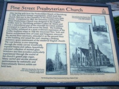 Pine Street Presbyterian Church Marker image. Click for full size.