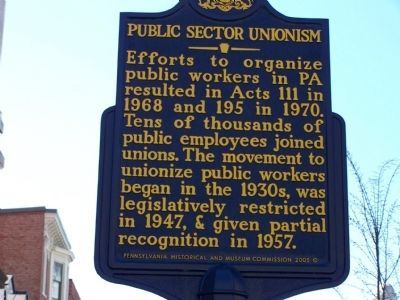 Public Sector Unionism Marker image. Click for full size.