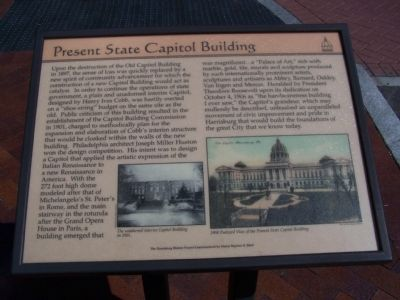 Present State Capitol Building Marker image. Click for full size.