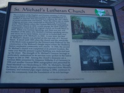 St. Michael's Lutheran Church Marker image. Click for full size.