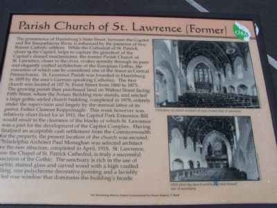 Parish Church of St. Lawrence (Former) Marker image. Click for full size.