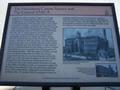 The Harrisburg Cotton Factory and The Central YMCA Marker image. Click for full size.