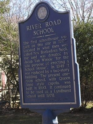 River Road School Marker image. Click for full size.
