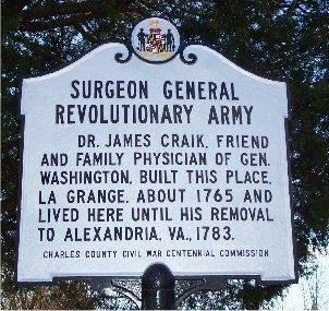 Surgeon General Revolutionary Army Marker image. Click for full size.