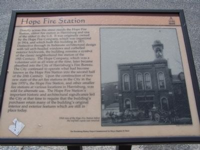 Hope Fire Station Marker image. Click for full size.