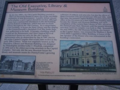 The Old Executive, Library & Museum Building Marker image. Click for full size.