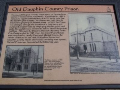Old Dauphin County Prison Marker image. Click for full size.