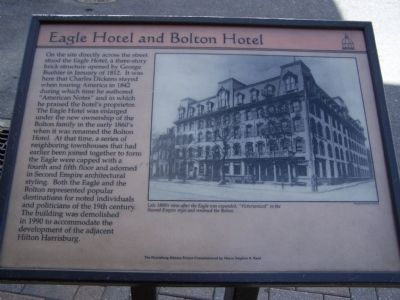 Eagle Hotel and Bolton Hotel Marker image. Click for full size.