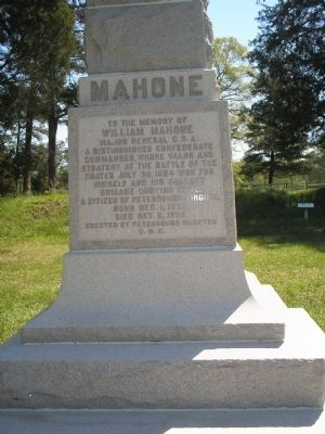 Mahone Monument image. Click for full size.