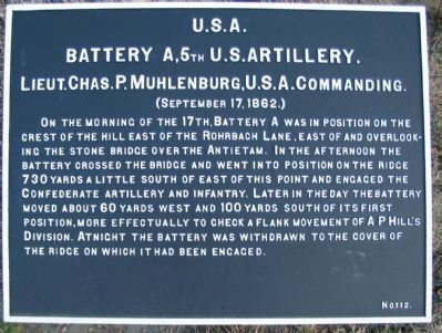 Battery A, 4th U.S. Artillery image. Click for full size.