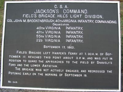 Field's Brigade Tablet image. Click for full size.