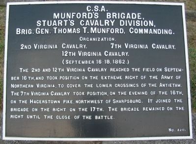 Munford's Brigade Tablet image. Click for full size.