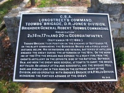 Toombs' Brigade Tablet image. Click for full size.