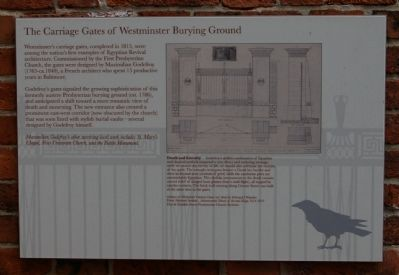 The Carriage Gates of Westminster Burying Ground Marker image. Click for full size.