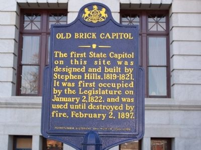 Old Brick Capitol Marker image. Click for full size.