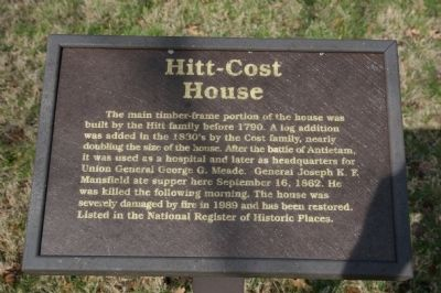 Hitt-Cost House Marker image. Click for full size.