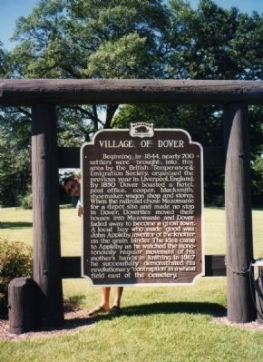 Village of Dover Marker image. Click for full size.