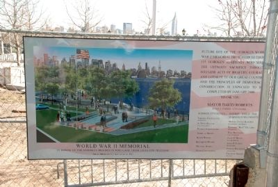 Hoboken World War II Memorial Announcement image. Click for full size.
