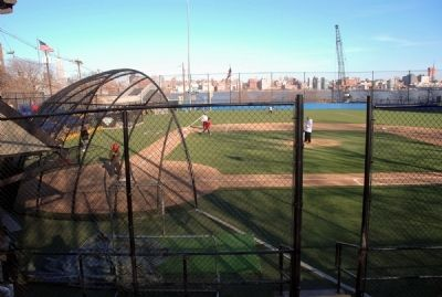 Baseball diamond on the memorial field. image. Click for full size.