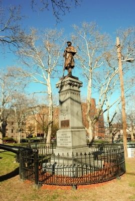 Monument as viewed from Hudson Street. image. Click for full size.