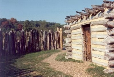 Interior of Fort Necessity image. Click for full size.