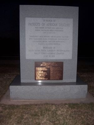Patriots of African Descent Monument, Valley Forge National Historic Park image. Click for full size.