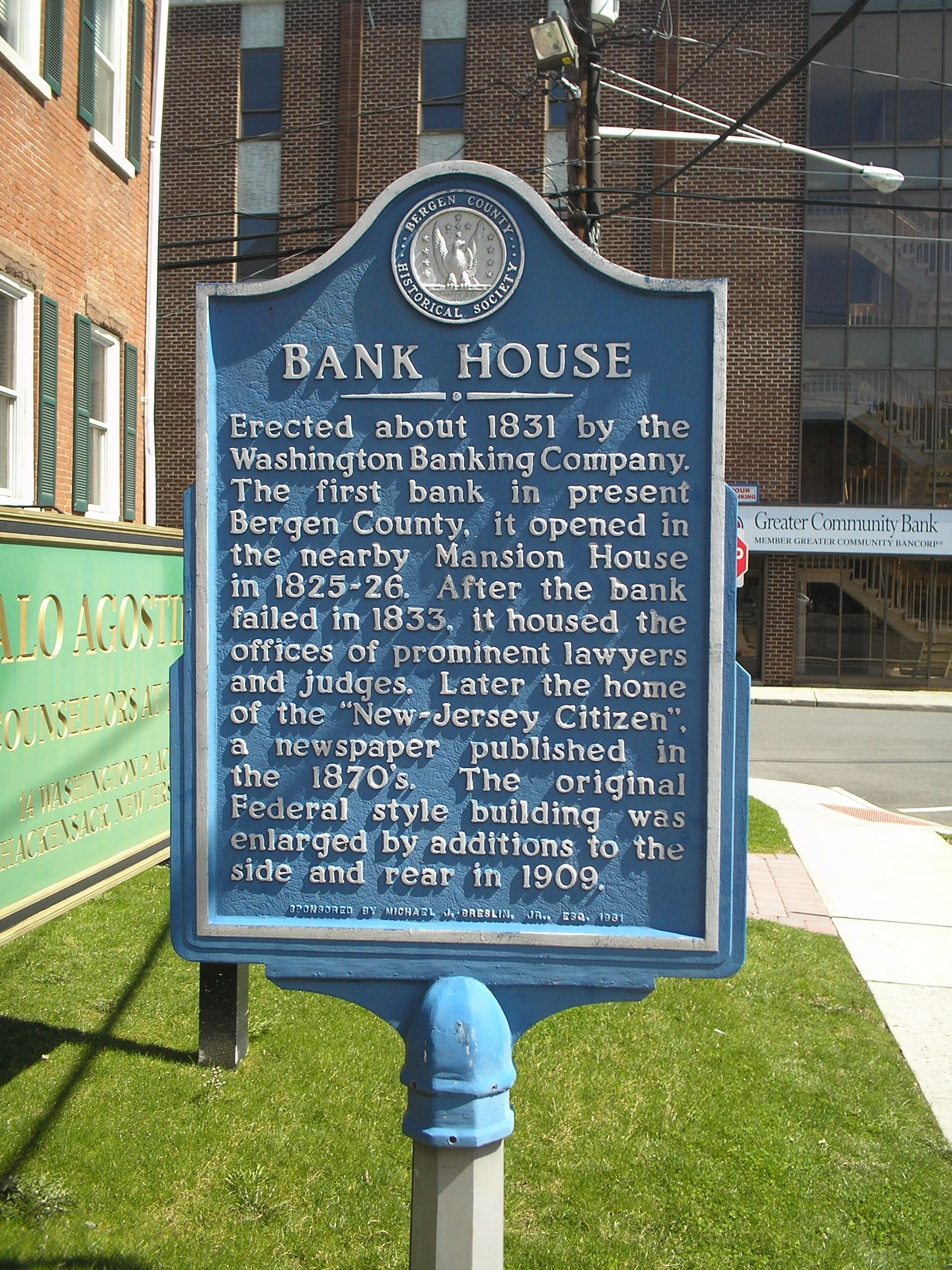 Bank House Marker