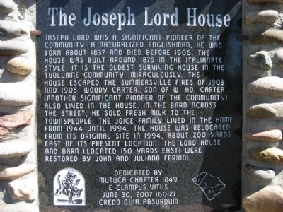 The Joseph Lord House Marker image. Click for full size.