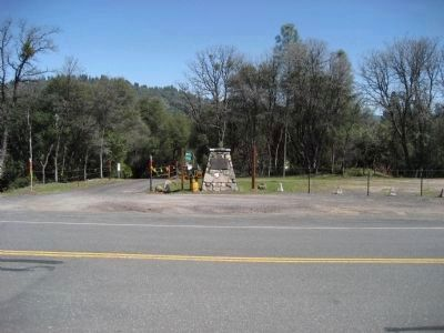 <i>Cherokee</i> and the Mark Twain Bret Harte Trail Marker image. Click for full size.