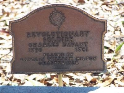 Nearby Cemetery Marker for Charles Davant about 100 feet away image. Click for full size.