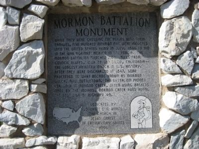 Mormon Battalion Monument Marker image. Click for full size.