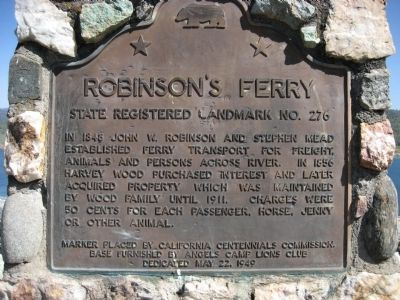 Robinson's Ferry Marker image. Click for full size.
