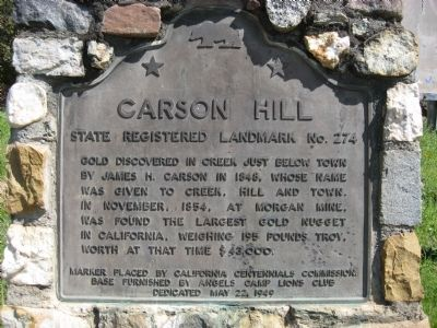 Carson Hill Marker image. Click for full size.