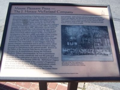 Mount Pleasant Press - The J. Horace McFraland Company Marker image. Click for full size.